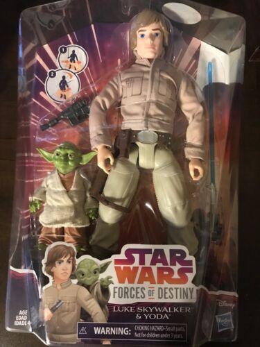 Star Wars Forces of Destiny Luke Skywalker and Yoda Adventure Doll Set IN STOCK