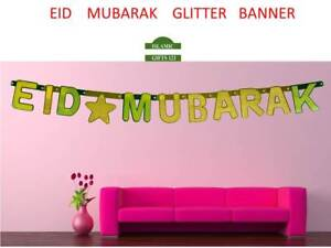 Details about EID MUBARAK Glitter banner Wholesale Eid Decoration-Islamic  Gifts-FREE SHIPPING
