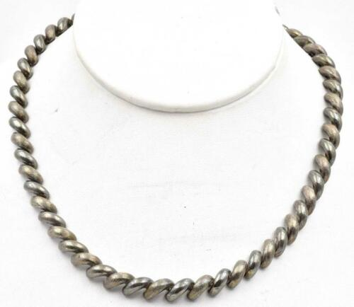 Vintage Sterling Silver Italy San Marco Macaroni … - image 1