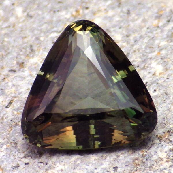 Einfach Grün Dichroitisch Schiller Oregon Sunstone 15.18ct Flawless-large-for