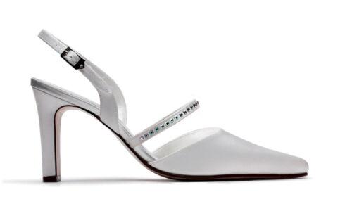 Ladies Ivory satin bridal bridesmaid wedding shoes All Sizes 3-8 Style Belle