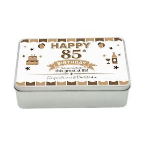 Image Is Loading 85th Birthday Keepsake Novelty Funny Tin Gift Box