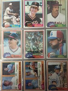 1981 TOPPS Baseball Cards. Stars & Commons. Up to 15 cards to Complete Your Set.