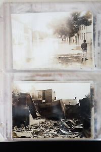 US-Lot-of-23-Early-20th-Century-Flood-Disaster-Photograph-Cards