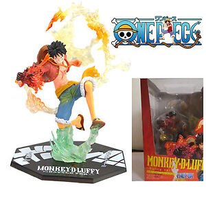 """One Piece Anime Monkey D Luffy Battle Version 8"""" pvc figure toy New With Box"""