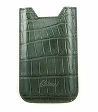 BRIONI Green Crocodile Leather iPhone 5 Blackberry Sleeve Pouch Case Cover NIB