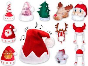 24 Weihnachtsmützen Set Mütze Blinkend Weihnachtsmütze Nikolaus Nikolausmütze