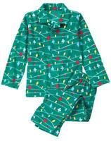 Gymboree Christmas Boys Lights Fleece Pajamas Holiday Green Many Sizes