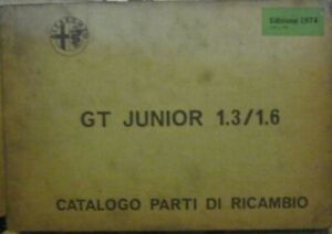 Alfa-Romeo-GT-Junior-1-3-1-6-Bertone-Ersatzteilkatalog-Catalogo-Parti-Ricambi