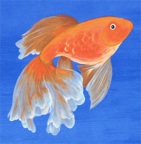 Donna Dewberry Oriental Goldfish Wallpaper Border on Blue   233B61005