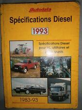 livre spécifications diesel 1983 à 1993 Autodata