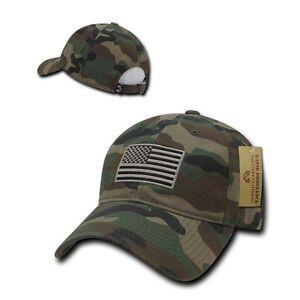 Khaki USA US American Flag Patch United States America Polo Baseball Hat Cap