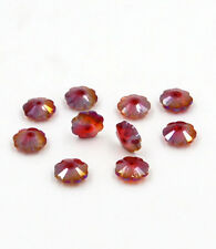 12pieces Swarovski 10mm Middle hole Plum Blossom Crystal bead B Red