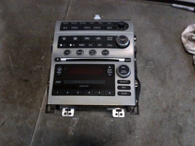 05-06 INFINITI G35 SEDAN RADIO NAVIGATION STEREO CLIMATE CONTROL W/  SCREEN