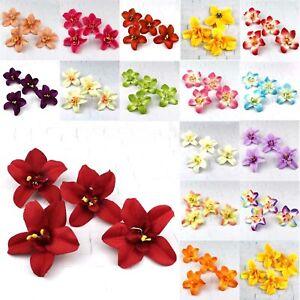 20X-8cm-Artificial-Silk-Flowers-Heads-Bulk-Fake-Floral-Orchid-Wedding-Craft-Deco