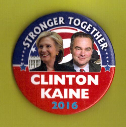 "2016 Hillary Clinton /& Tim Kaine 2.25/"" Presidential Campaign Button 04 xmas"