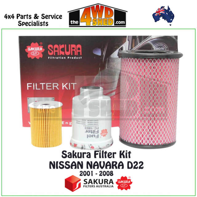 Sakura Filter Kit RSK11 suits Nissan Navara D22 2001 - 2008