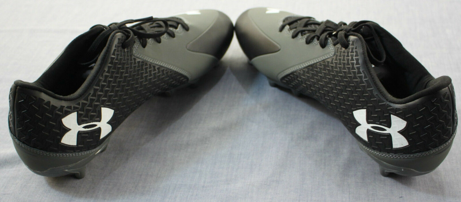 Under Armour Men Gray Nitro Icon Low MC Clutch Fit Soccer Football Cleats NEW 13