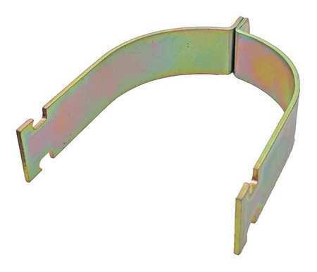 Channel Rigid Pipe Clamp,4 In,Gold,PK10 ZORO SELECT V110 4Y
