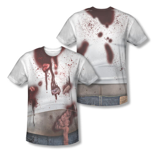 ZOMBIE SLOB Halloween Costume 2-Sided All Over Print Poly Cotton T-Shirt
