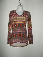 Red Southwest Design Top With Tags (s) Women's (ships Free)