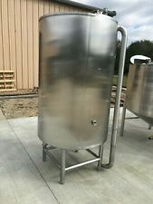 400 Gallon Vertical 304 Stainless Steel Tank Open Top On Legs With Cone Bottom