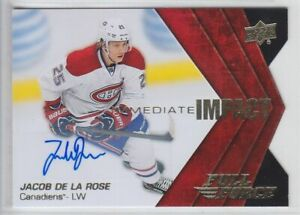 2015-16-UD-FULL-FORCE-JACOB-DE-LA-ROSE-RC-AUTO-II-JD-IMMEDIATE-IMPACT-Canadiens