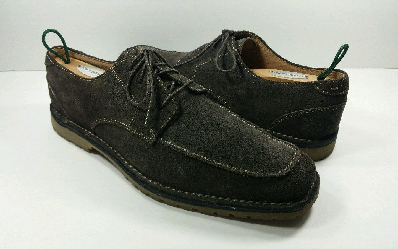 FLORSHEIM Brown Suede Leather Bio Comfort Derby shoes - Size 10D