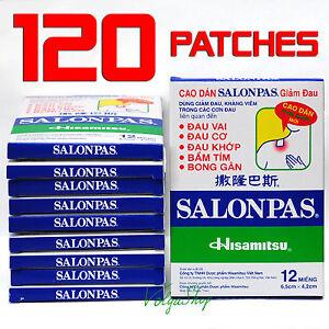 120-Patches-10Boxes-x12-Hisamitsu-SALONPAS-Muscle-Arthritis-Aches-Pain-Relief