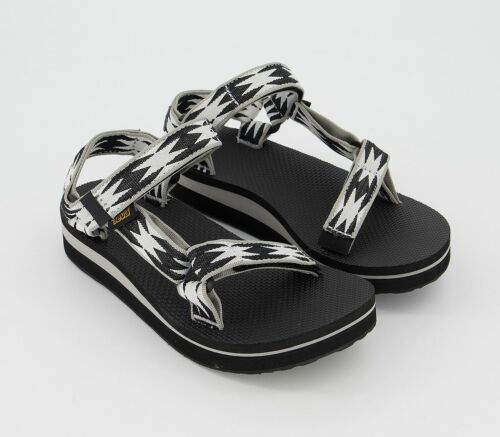 Pour femme Teva midform Universal Sandales Noir Motif Sandales