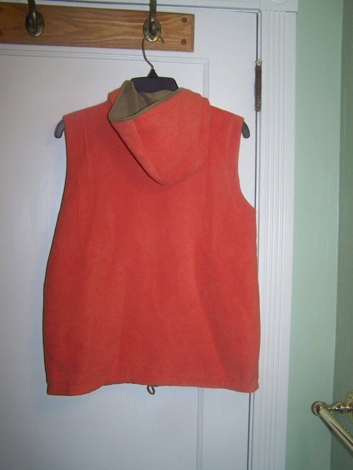 Tommy Hilfiger Vest Reversible Large Orange - image 4