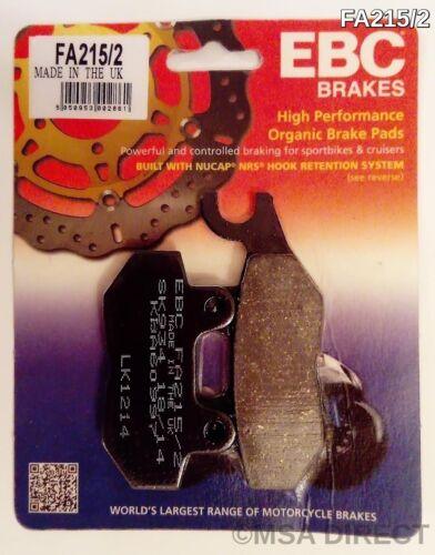 FA215//2 Triumph Tiger 885 1992 to 1997 EBC Organic REAR Brake Pads 1 Set