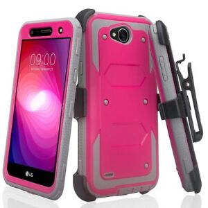 wholesale dealer 5aab2 c1a86 Details about LG Fiesta 2 LTE / Fiesta LTE Case [Built-in Screen Protector]  Holster Cover Clip