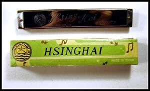 "FOR THE SERIOUS COLLECTOR 1970's "" HSINGHAI"" TREMOLO HARMONICA WITH  BOX."