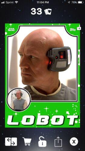 Digital Topps Star Wars Card Trader Green Throwback Lobot