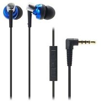 Audio-technica ATH-CKM300i/BL Earset Earphone for iPhone/iPad ATHCKM300i Blue