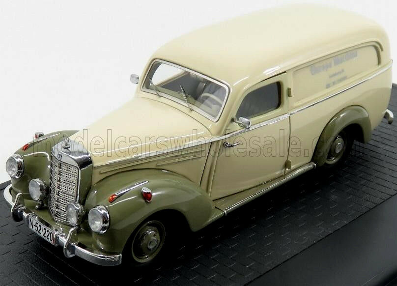 Wonderful modelcar MERCEDES BENZ 220 AUTENRIETH PANEL VAN 1952  - 1/43