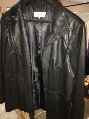 Calvin Klein Plus Size Leather Coat