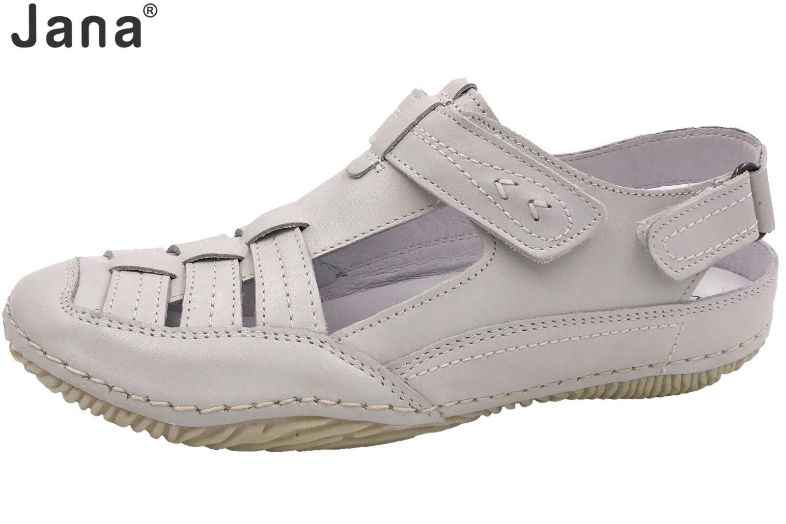 Jana Damen Sandale Weiß Echtleder Sommer Slipper Schuhe NEU 88-24617-20-109