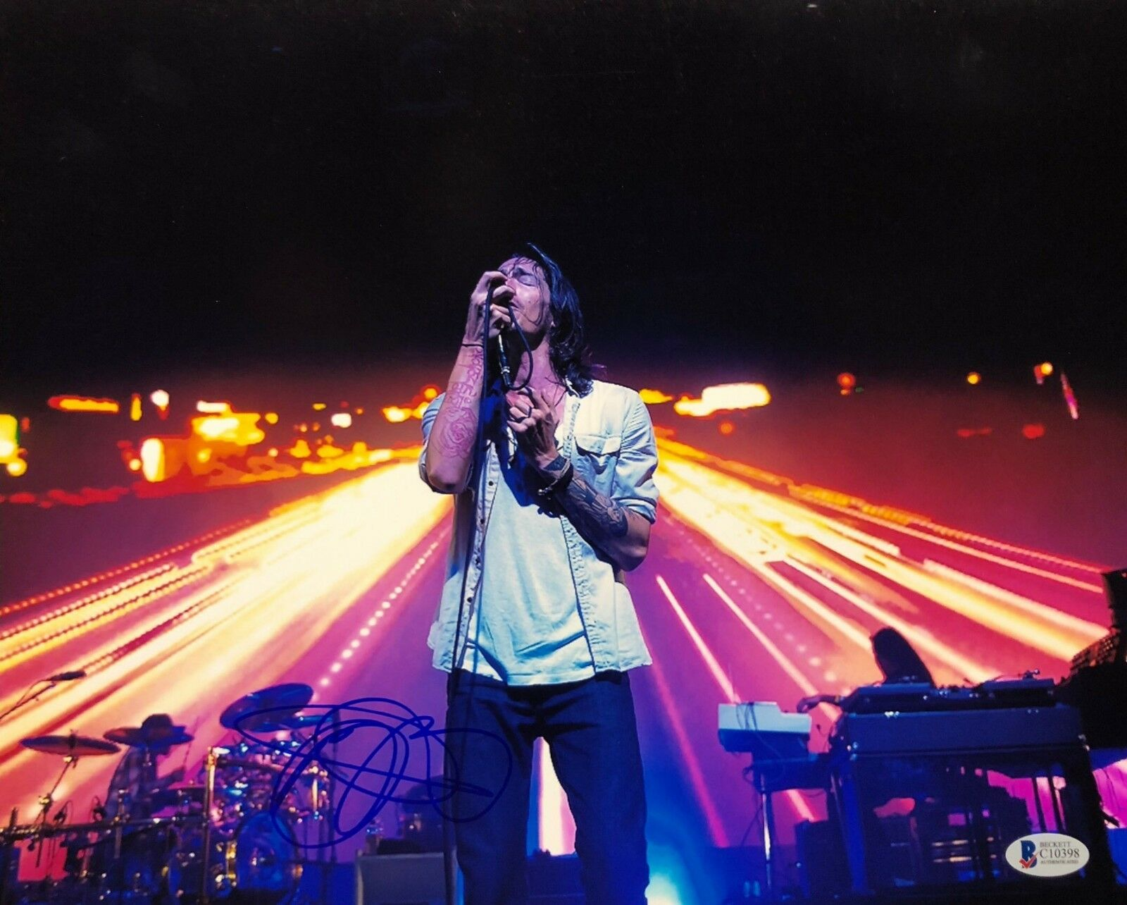 Brandon Boyd Signed 11x14 Photo *Incubus *Drive *Love Hurts Beckett BAS C10398