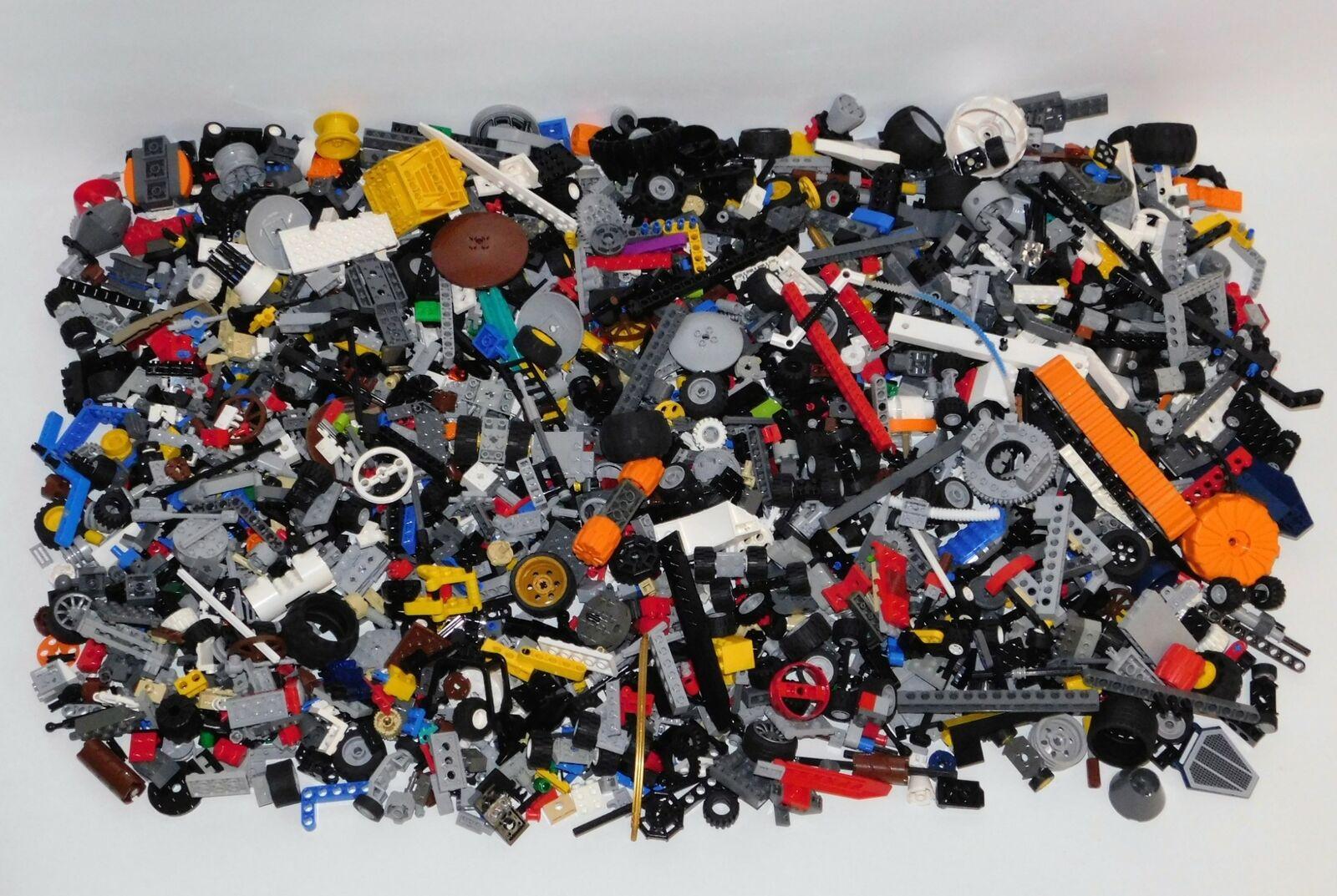 Bulk Lot 7+ Pounds LEGO Technic Assorted Parts, Wheels, Rods, Connectors, More C