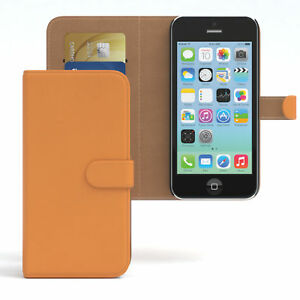 Case-for-Apple-iPhone-5c-Case-Wallet-Protective-Case-Cover-Orange