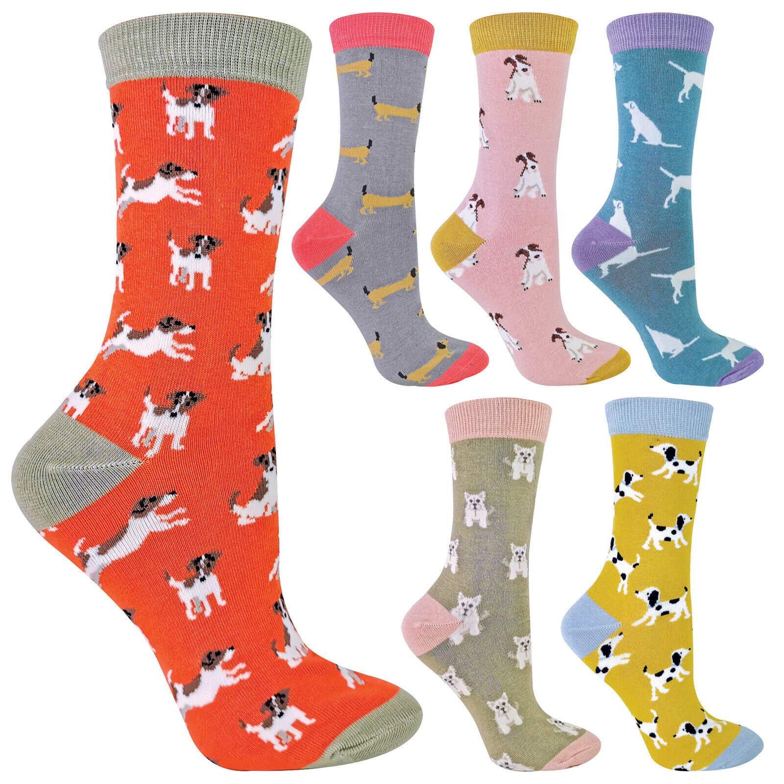 MISS SPARROW - Damen Socken mit Tieremotiv Bambus Socken mit Bunt Animal Muster