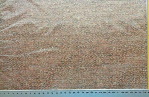 Dekorbögen 34,15€//m² 3 Stück je 34 x 21,5 cm Heki 14002 Ziegelsteinmauer