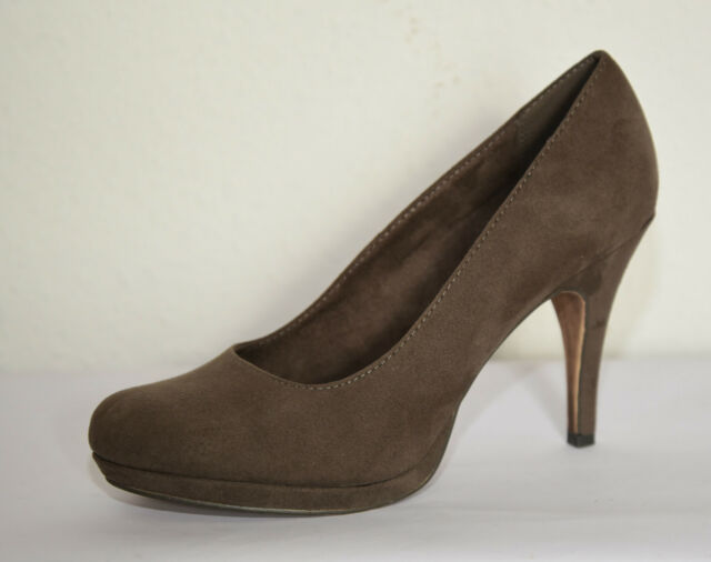 Tamaris Damen Schuhe Pumps Gr. 40 Farbe Cigar grau