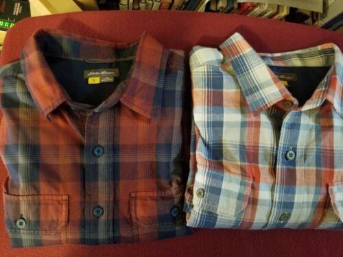 Eddie Bauer (2 Shirts) LT Long Sleeves Men's Shirt