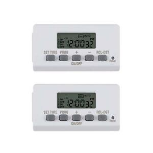 BN-LINK-Mini-Indoor-Easy-Set-Daily-24-Hour-Digital-Outlet-Timer-2-Prong-2-Pack