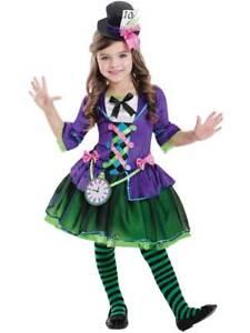 f7861826cda Dettagli su Le ragazze PAZZO Bad Cappellaio Costume Bambino Fiaba Alice  Costume Bambini Libro Settimana- mostra il titolo originale