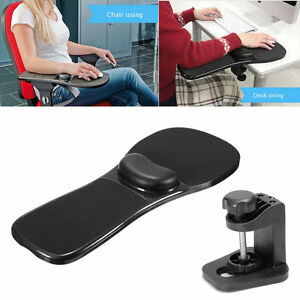 Image is loading Black-Rest-Arm-Chair-Pad-Mouse-Support-Computer-  sc 1 st  eBay & Black Rest Arm Chair Pad Mouse Support Computer Desk Ergonomic Wrist ...