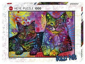 "NEW Heye Jigsaw Puzzle Game 1000 Pieces Tiles ""Devoted 2 Cats"" Jolly Pets"